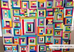 """crazy mom quilts: """"you can't rush art"""" quilt top"""
