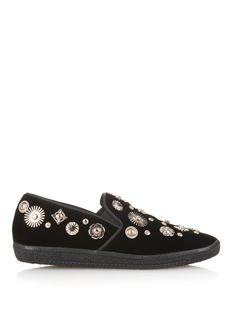 Charm-embellished velvet slip-on trainers | Toga | MATCHESFASHION.COM UK