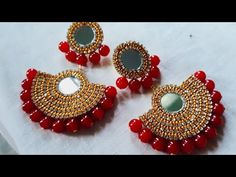 Handmade Jewellery Designs With Beads Simple Homemade Jewellery Silk Thread Earrings, Thread Bangles, Thread Jewellery, Tassel Jewelry, Beaded Earrings, Beaded Jewelry, Jewellery Box, Diy Tassel, Jewellery Shops