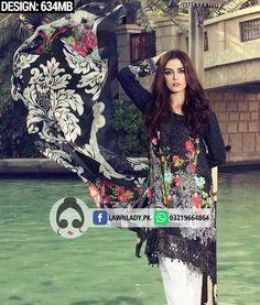 bf319899f3 Maria B. Replica Lawn 2017 3Pcs Suit Design#634MB Maria B, Salwar Kameez