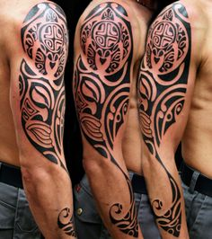 Sleeve 3/4 tribal tattoo by Kaifa braccio tribale 3/4 tattoo realizzato da Claudio Kaifa