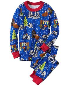 Star Wars™ Holiday Long John Pajamas In Organic Cotton (Hanna Andersson)