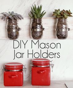How to make your own mason jar holders