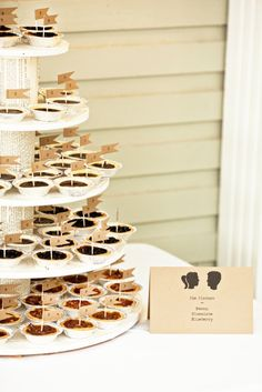 Pie N' the Bride....wedding pie_merriment events_photo by katie stoops.  Pie instead of cupcakes.....love it!