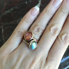 My favorite stackers are Labradorite with Sunstone as their sheen constantly captivates me!