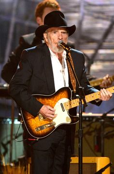 Merle Haggard performs on the 56th Annual GRAMMY Awards on Jan. 26 in Los Angeles