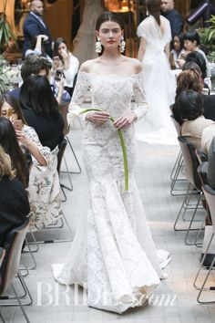 Long sleeve wedding dresses are the picture of bridal perfection. Browse the long sleeve wedding dresses we love. Spanish Lace Wedding Dress, Pretty Wedding Dresses, Wedding Dresses Photos, Wedding Dress Trends, Wedding Dress Shopping, Wedding Dress Sleeves, Long Sleeve Wedding, Perfect Wedding Dress, Bridal Wedding Dresses
