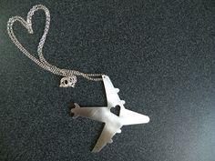 I Heart Travel Airplane Necklace - via Etsy.