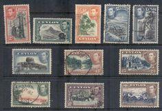 Ceylon 1938-52 KGVI Pictorials to 1RFU