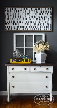 From Beat Up to Beautiful:  Empire Dresser Makeover