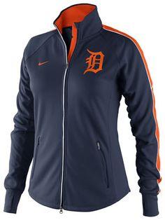 fd4c6b553 Detroit Tigers Women s Navy Nike CP Dri-Fit Tempo Track Jacket Detroit  Tigers Apparel
