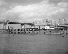 Close-up view of the John Gorrie Memorial Bridge at Apalachicola. Apalachicola Florida, Close Up, New York Skyline, Bridge, Boat, Memories, Explore, Travel, Image
