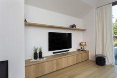 Horemans keuken- en meubelatelier Geel-Larum : Maatkasten | Horemans Living Room Hacks, Interior Design Living Room, Fireplace Ideas, Flooring, Wall Ideas, House, Home Decor, Rustic Homes