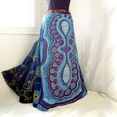 RESERVED  Wild Thunder Skies  Blue Patchwork by BarefootModiste, $64.00