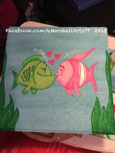 Stepping stone kissing fish for the garden