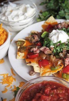 Steak Fajita Nachos: Super Bowl Appetizers