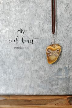 DIY Rock Heart Neckl