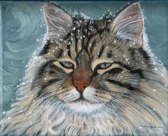 winter cat - cats Fan Art