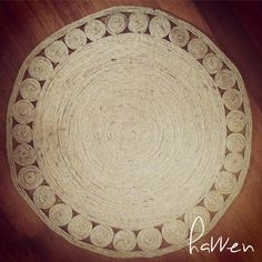 DIY Coiled Jute Rug on Havven.com.au