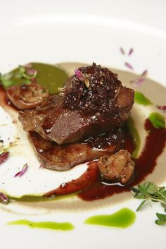 Braised Veal Cheek and Tongue / 17 Stunning Photos Of Chef Charlie Trotter's Food (via BuzzFeed)
