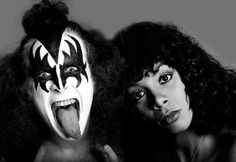 Gene Simmons and Donna Summer, 1978.