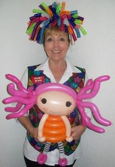 Sew cute Lalaloopsy balloon creation by Donna Wiles.