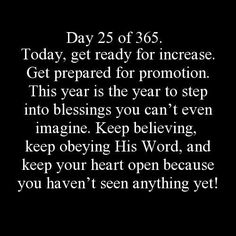 Get Ready for Increase!