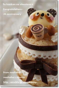 panda cake rice onigiri ♥ Dessert