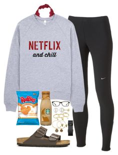 """me because today is Valentines day and im single"" by daydreammmm ❤ liked on Polyvore featuring Free People, NIKE, Birkenstock, GlassesUSA, Miadora, Rebecca Minkoff, Alex and Ani and Fitbit"