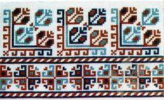 Gallery.ru / Фото #13 - Yugoslavian Embroidery - Dora2012 Embroidery Flowers Pattern, Flower Patterns, International Craft, Palestinian Embroidery, Costume Patterns, Chart Design, Looks Vintage, Cross Stitch Charts, Hama Beads