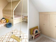 My Ideal Home, Baby Room Design, Basement Bedrooms, Kidsroom, Kid Beds, Mom And Baby, Girls Bedroom, Toddler Bed, Shabby Chic