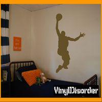 Basketball AL 005 Dunk Sports Vinyl Decal Car or Wall Sticker Mural