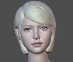 zbrush, June Ho Cho on ArtStation at… Zbrush Character, 3d Character, Character Design, Photo Reference, Art Reference, Zbrush Hair, 3d Human, 3d Face, Model Face