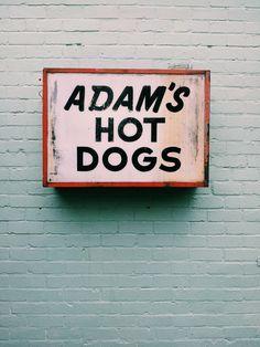 Old sign, Birmingham #sign #hotdog
