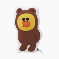 LINE Friends Sally wears Brown Jumpsuit Cushion Anime Authentic Official Goods  | eBay
