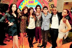 The Victorious Cast- Elizabeth, Daniella, Victoria, Avan, Matt, Leon and Ariana