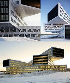 This office space in Fornebu uses large windows as an integral part of the design; however, despite the windows' size, users are still given control over their lighting.