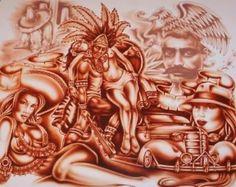 Chicano Latino Aztec Mexican Revolution Brown Pride Art Poster Print--New Minions Cartoon, Latino Art, Mexican Revolution, Lowrider Art, Brown Pride, Aztec Art, Chicano Art, Mexican Art, Skin Art