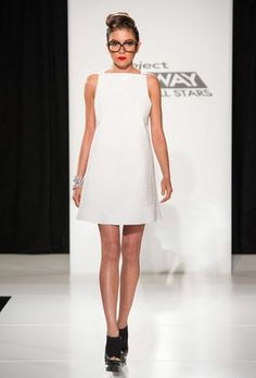 Love the cut if this dress, especially from the side! Seth Aaron Project Runway All Stars finale
