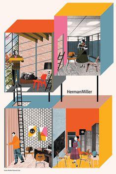 1 | Contemporary Illustrators Reimagine Herman Miller Classics | Co.Design: business + innovation + design