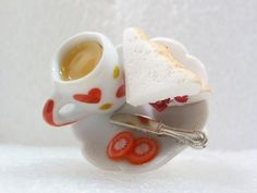 Tea And Bacon Sandwich Ring. Polymer Clay. by GiraffesKiss on Etsy, £10.00
