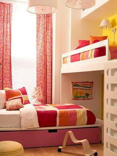 Bright And Sunny Girls Bedroom For Two | Kidsomania