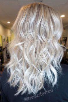 Image result for white platinum long hair