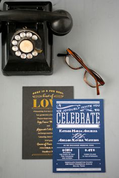 Wending Invitations: Foil stamped wedding stationery from Invitations by Dawn