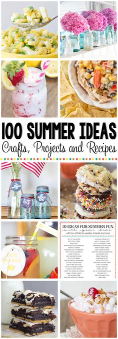 100 Summer Ideas to inspire you to create and celebrate!