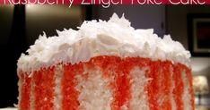 Raspberry Zinger Cake, Poke Cake Recipes, White Cake Mixes, Calorie Diet, Whipped Cream, Vanilla Cake, Coconut, Cakes, Desserts