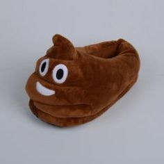 3e6b195149e53 Poop Emoji 💩 Full Foot Adult Slippers Kids Slippers, Soft Slippers,  Slippers For Girls