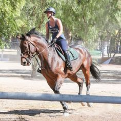 Kaley Cuoco Horseback Riding in L.A. - 10/4/2014