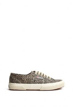 Leopard Spotted Lace Up Pump by Superga
