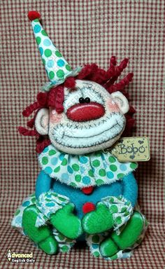 Primitive Doll Patterns, Clowning Around, Funny Happy, Cover Pages, Pattern Paper, Wool Felt, Happy Shopping, Fiber Art, My Design